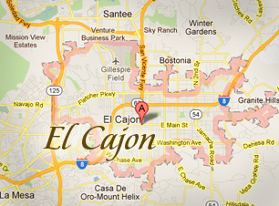 El Cajon, CA map