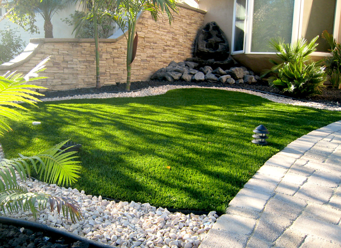 Landscape turf artificial lawn san diego contractor for Grass design ideas