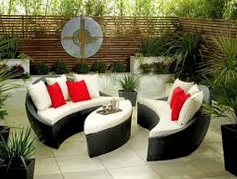 Round Rattan Garden Furniture Water Wise Grass